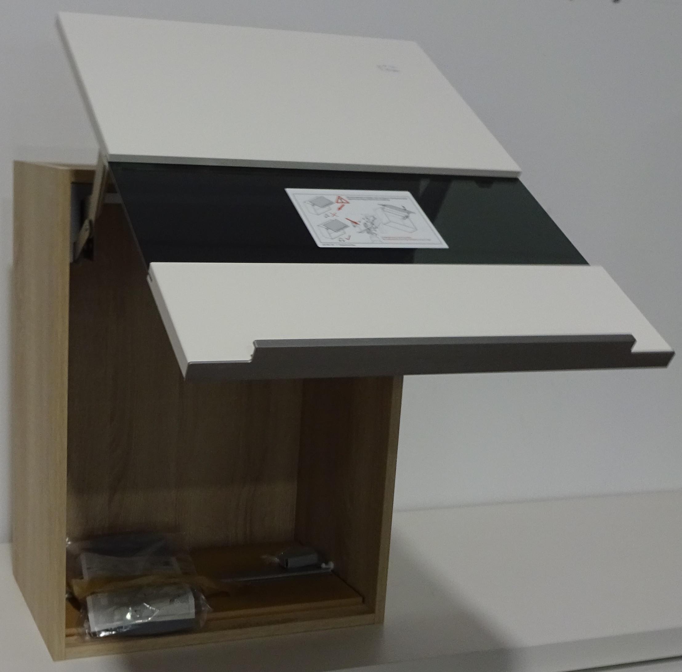 h ngeschrank wand schrank klappt r k che ausstellungsst ck in eiche virginia ebay. Black Bedroom Furniture Sets. Home Design Ideas