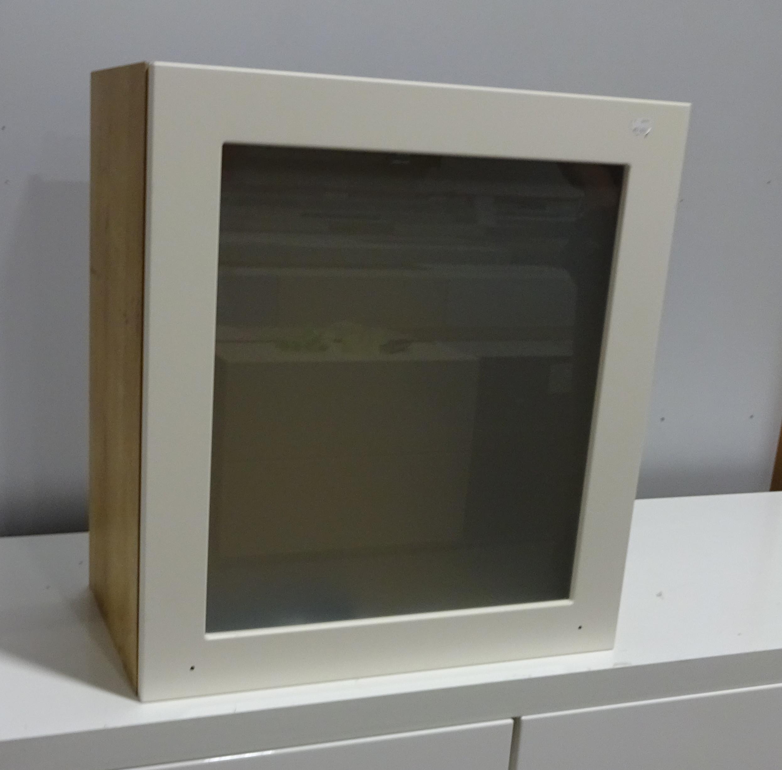 h ngeschrank wandschrank klappt r k che ausstellungsst ck in eiche provence ebay. Black Bedroom Furniture Sets. Home Design Ideas