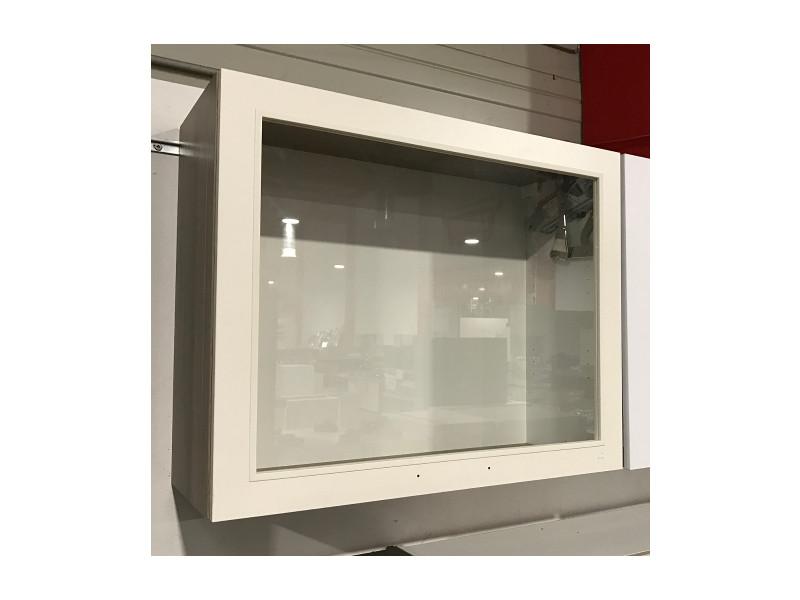 Hangeschrank kuche mit lifttur for Kuchenhangeschranke glas