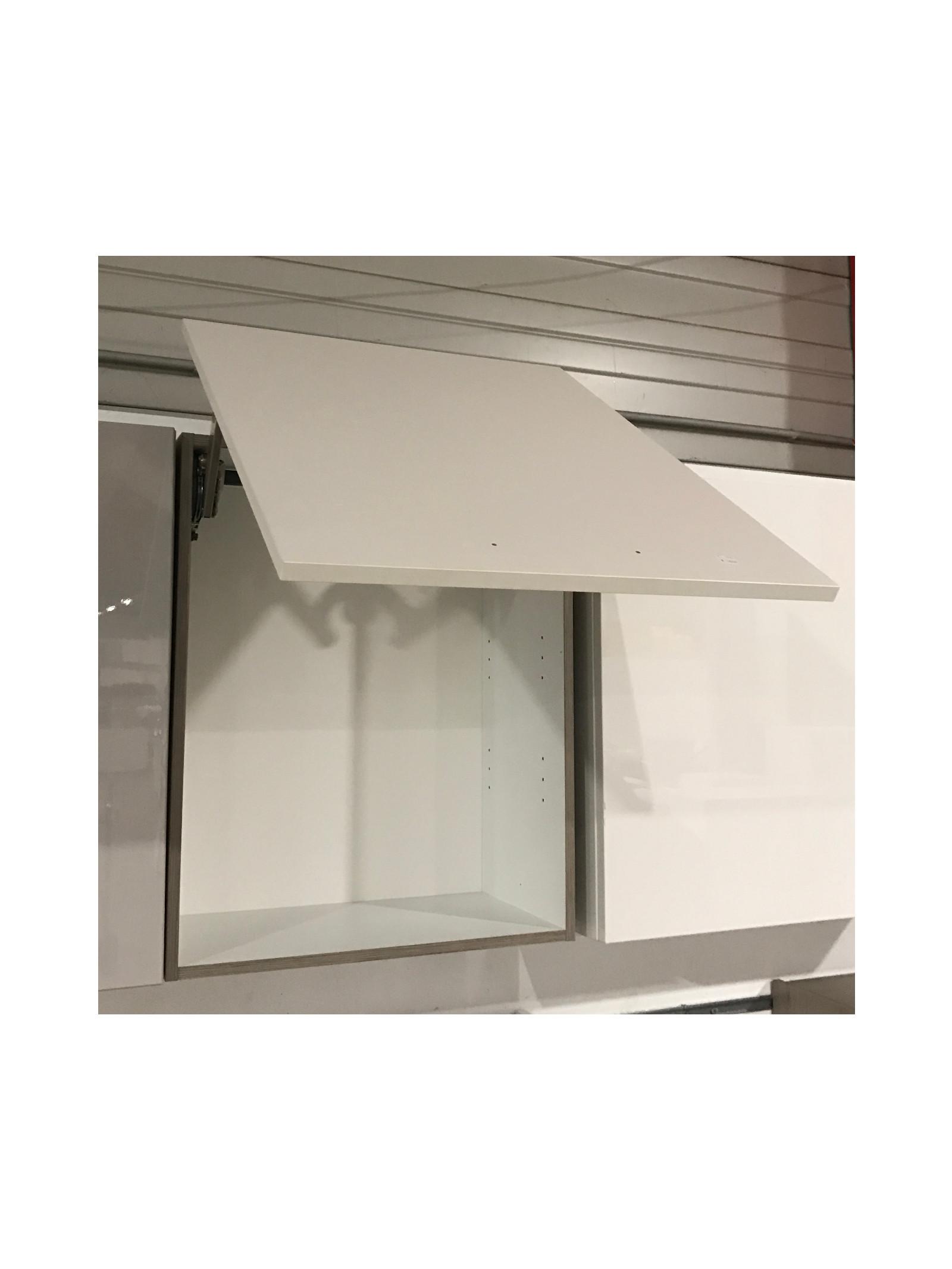 h ngeschrank mit liftt r magnolia matt eiche dunkel k chenschrank ebay. Black Bedroom Furniture Sets. Home Design Ideas