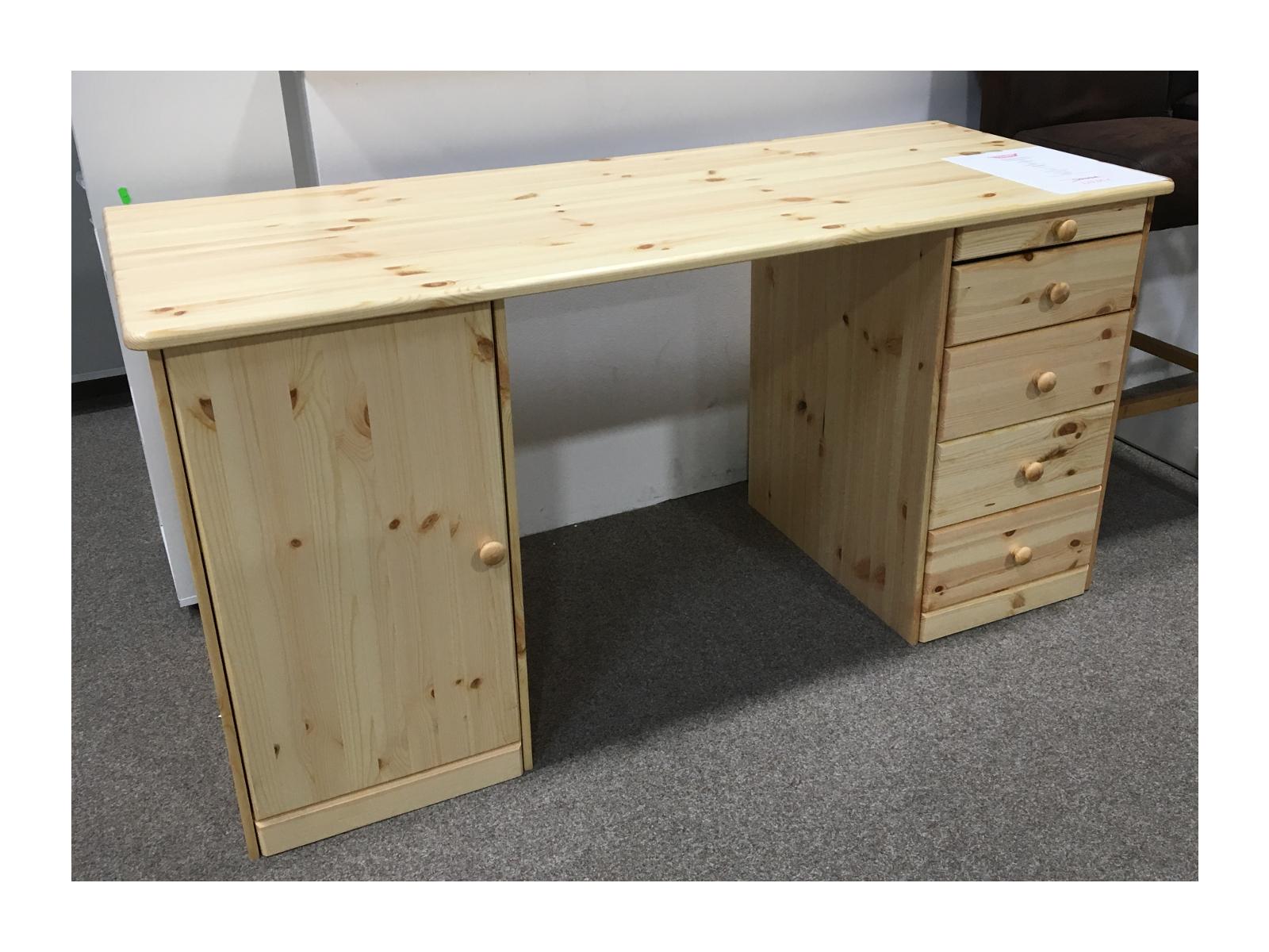 Schreibtisch phillina i kiefer massivholz lackiert shabby for Schreibtisch kiefer lackiert