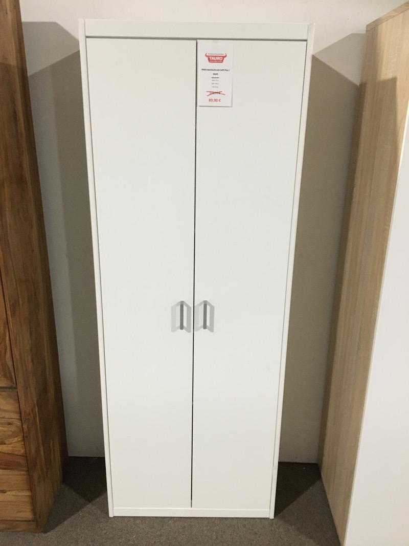 Mehrzweckschrank Soft Plus I - Weiß Garderobe Flurschrank