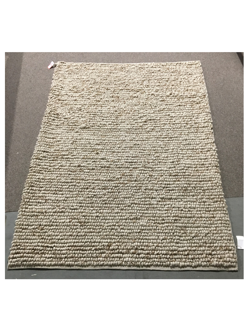 Teppich Fabric Kunstfaser grau 80x200 cm Läufer Skandi weiß Grafik