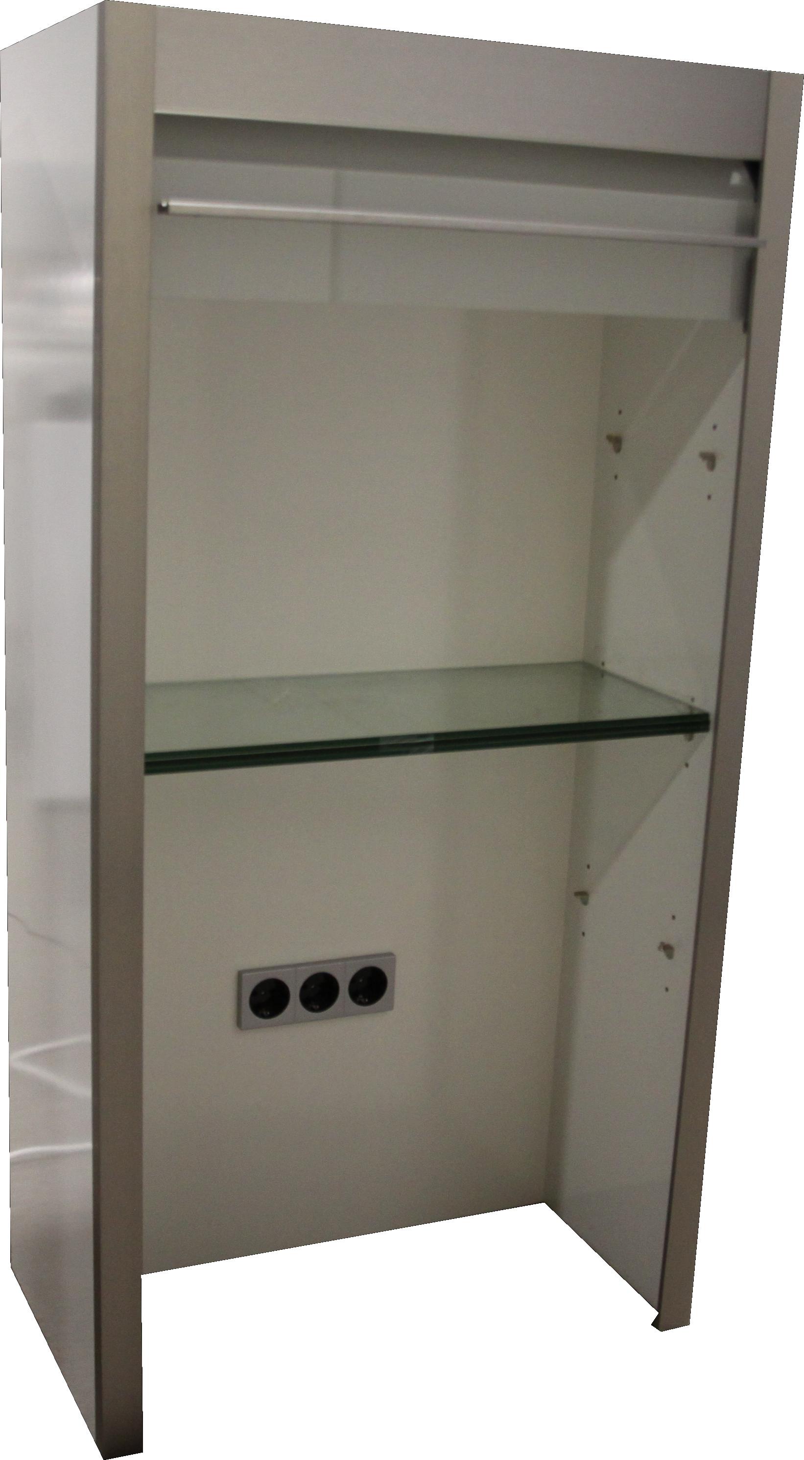 Jalousieschrank / Aufsatzschrank in Weiß Glanz / Mattglas