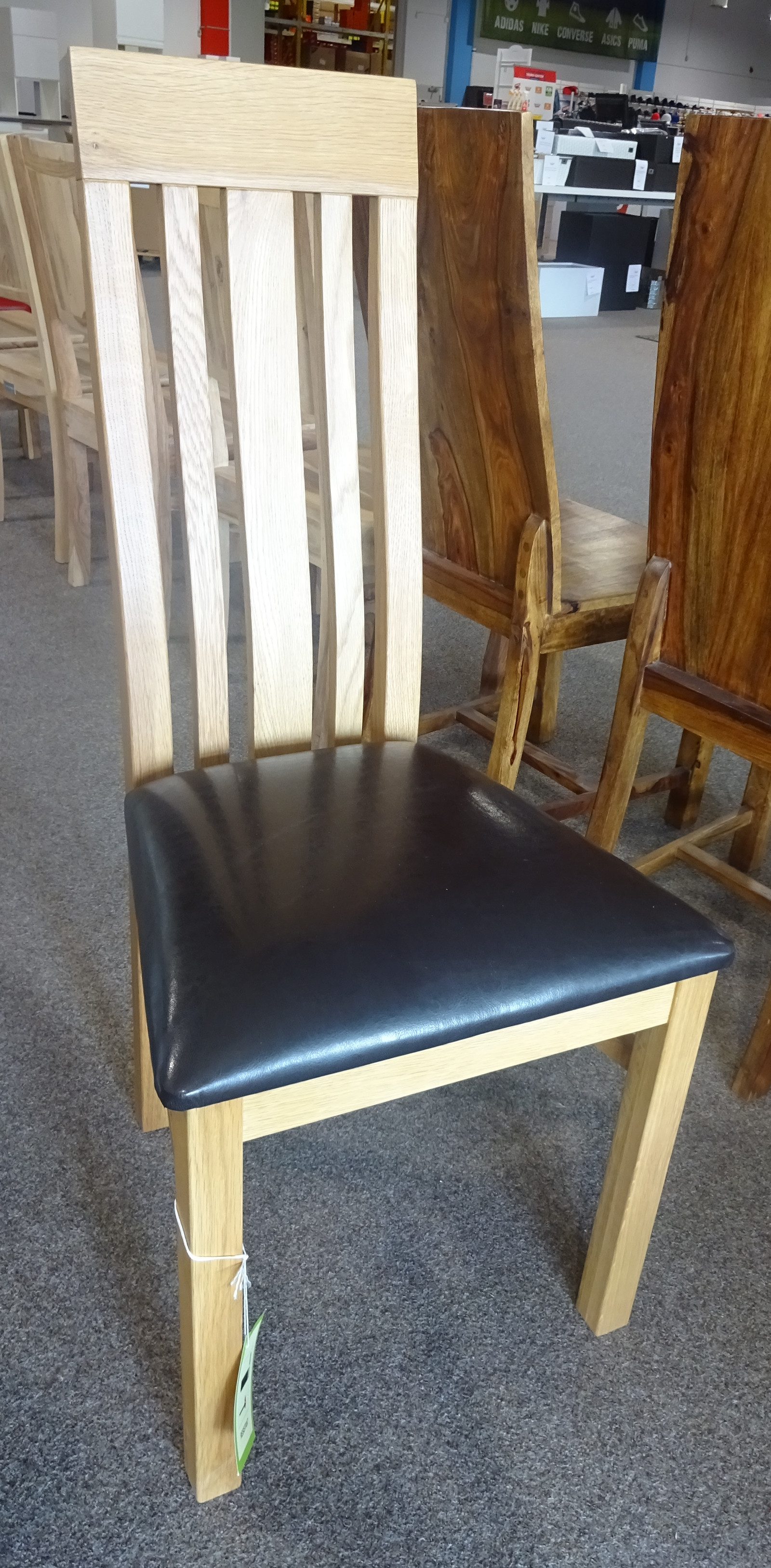 massivum holzstuhl barbados eiche kunstleder ebay. Black Bedroom Furniture Sets. Home Design Ideas